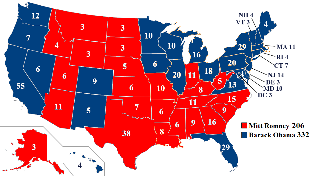 what are the candidates for the 2012 elections