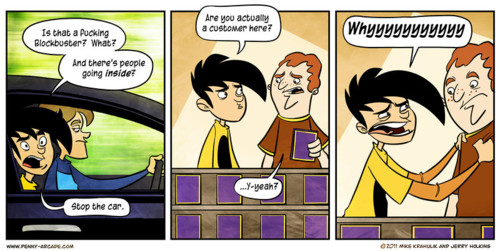 Blockbuster Closing - penny arcade