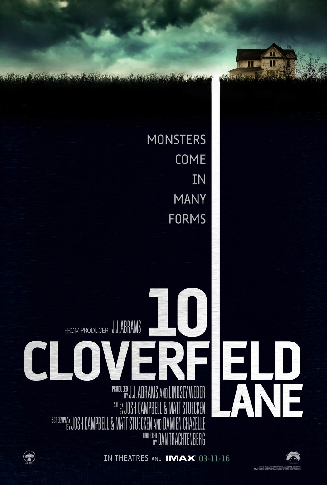 Image result for 10 cloverfield lane 2016 movie poster